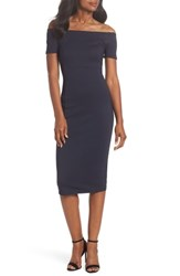 Felicity And Coco Off The Shoulder Sheath Dress Navy