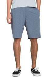 Rvca Men's All The Way Hybrid Shorts Ink Blue Stripe