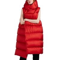 Rick Owens Liner Down Quilted Sleeveless Puffer Jacket Red