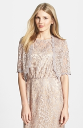 Laundry By Shelli Segal Metallic Lace Bolero Champagne