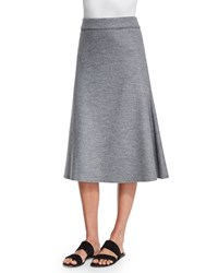 The Row Natal High Waist A Line Skirt Medium Gray Melange Med Gray Melange
