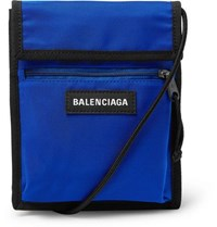 Balenciaga Explorer Canvas Messenger Bag Blue