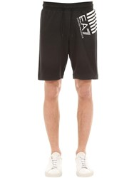 Emporio Armani Logo Cotton Shorts Black
