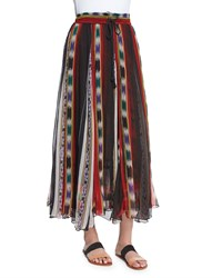 Mes Demoiselles Tiyi Striped Maxi Skirt Stripes Print