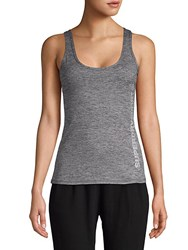 Superdry Crisscross Back Tank Top Charcoal
