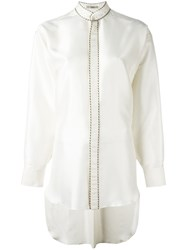 Etro Piped High Low Hem Shirt White
