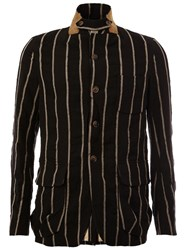 Uma Wang Striped Jacket Black