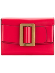 Boyy Buckled Clutch Red