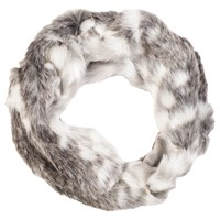Chesca Faux Fur Scarf Snow Wolf