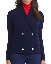Ralph Lauren Shawl Collar Double Breasted Cardigan Navy