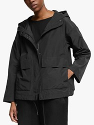 Eileen Fisher Organic Cotton Hooded Coat Black