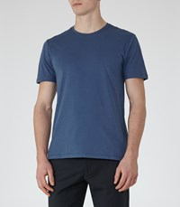 Reiss Bless Mens Crew Neck T Shirt In Blue