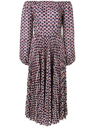 Valentino Retro Print Logo Dress Blue
