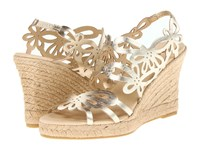 Eric Michael Jillian Gold Wedge Shoes
