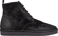 Marsell Suede Lace Up Platform Boots Black