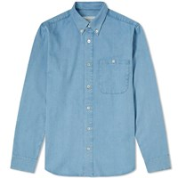 A Kind Of Guise Denim Button Down Shirt Blue