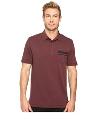 Travis Mathew Hammond Polo Oxblood Black Men's Clothing Brown