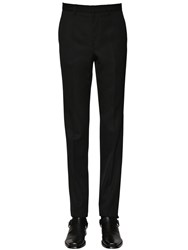 Givenchy 18.5Cm Wool Trousers W Logo Details Black