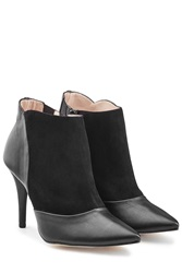 Repetto Leather And Suede Ankle Boots Black