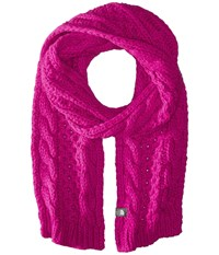 The North Face Cable Minna Scarf Luminous Pink Scarves