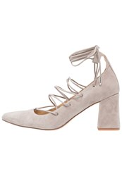 Chinese Laundry Odella Laceup Heels Cool Taupe