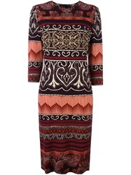 Etro Patterned Mid Length Dress Black