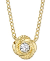 Kate Spade New York Infinity And Beyond Gold Tone Crystal Knot Pendant Necklace