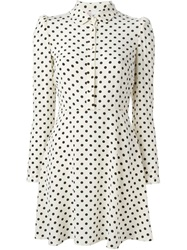 Red Valentino Polka Dot Shirt Dress Nude And Neutrals