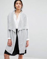 Oasis Shawl Collar Cardigan Grey
