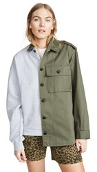 Harvey Faircloth Hybrid Field Jacket Olive Grey
