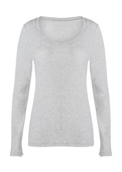 Lorna Jane Going Places L Slv Top Grey