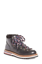 Moncler Women's Blanche Lace Up Boot Black