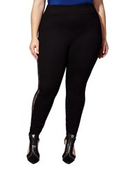 Mblm By Tess Holliday Lace Inserts Leggings Black