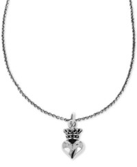 King Baby Studio Crown Heart 18 Pendant Necklace In Sterling Silver