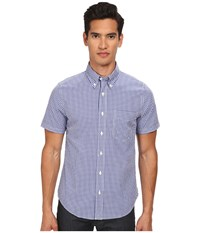Jack Spade Maddox Gingham Shirt Navy Men's Short Sleeve Button Up