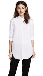 Ayr Easy Half Placket Shirt White
