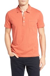 Billy Reid Men's 'Pensacola' Trim Fit Polo Nantucket Red
