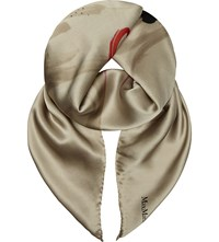Max Mara Ken Silk Scarf Red