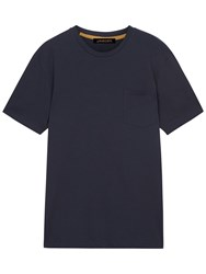 Jaeger Organic Cotton T Shirt Navy