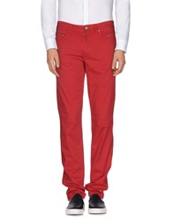 Jaggy Trousers Casual Trousers Men Red