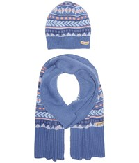 Columbia Winter Worn Hat And Scarf Set Bluebell Cold Weather Hats