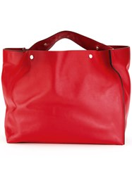 Marni Voile Shopping Tote Bag Red
