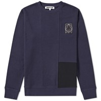 Mcq By Alexander Mcqueen Colour Block Crew Sweat Blue