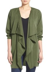 Leith Drape Front Jacket Green