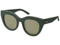 Le Specs Air Heart Matte Olive Gold Fashion Sunglasses