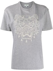 Kenzo Tiger Embroidered T Shirt 60