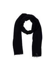 Kangra Cashmere Oblong Scarves Black