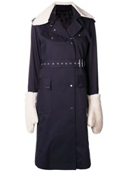 Eudon Choi Mitchell Trench Coat Blue