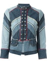 Marc By Marc Jacobs Denim Military Jacket Blue