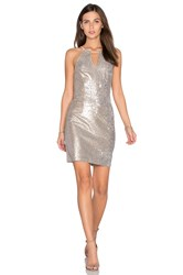 Greylin Taylor Sequin Dress Metallic Silver